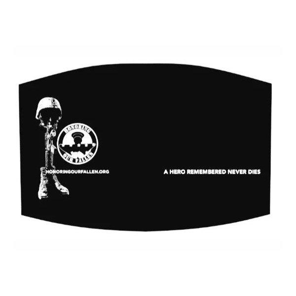 Black Face Mask–One Size Adjustable Straps